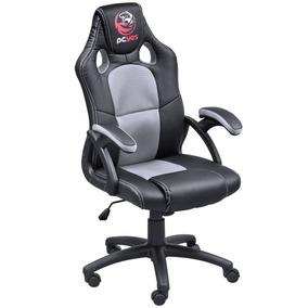 Cadeira Giratória Gamer Cinza E Preto Mad Racer V6 Pcyes