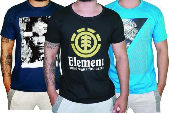 Kit 20 Camisetas Camisa Blusa Masculina Multimarcas Atacado