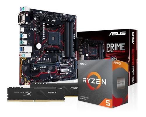 Kit Processador Amd Ryzen 5 3600 Asus B450m-g 2x8gb Hx Fury