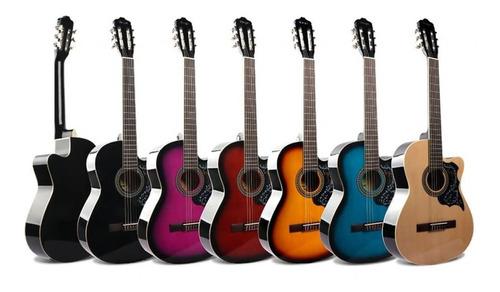 Imagen 1 de 1 de Oferta Guitarra Acustica Todos Colores Naylon Metal Clasica