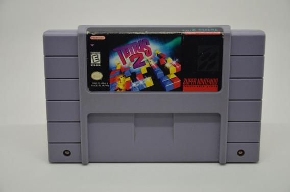 Tetris 2 Super Nintendo Snes 100% Original Americano