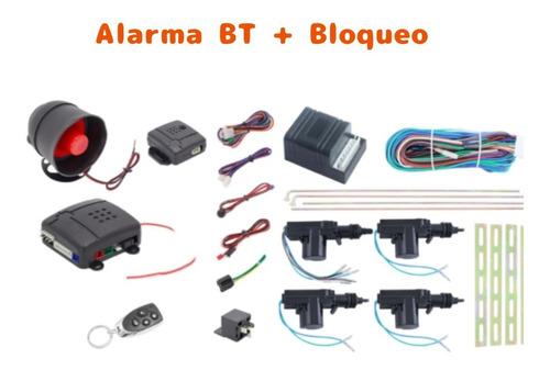 Imagen 1 de 3 de Alarma Bluetooth Y Bloqueo Central Carro