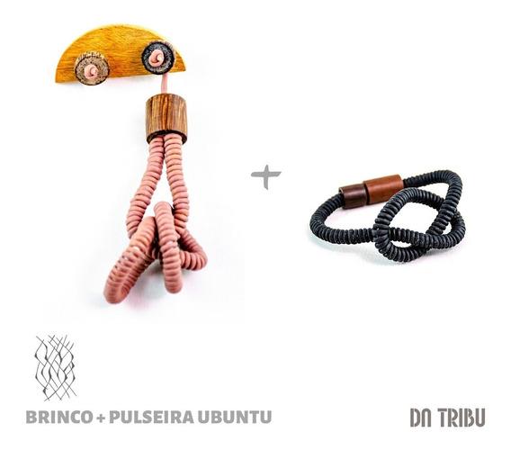 Brinco + Pulseira Ubuntu Feminino - Da Tribu | Biojoia