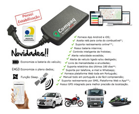 Kit Rastreador Veicular Localizador Gps Compaq Gps Moto Carr