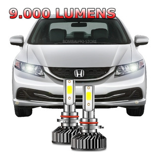 Kit Lampada Super Led New Civic 2014 2015 Farol Baixo 6000k
