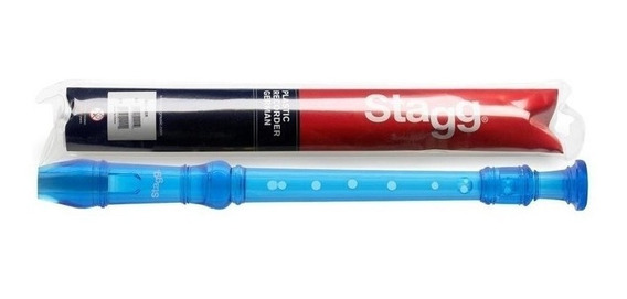 Flauta Dulce Soprano - Color Azul Stagg Rec-gertbl