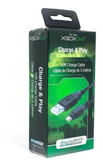 Cabo Carregador Charge E Play Dreamgear Xbox One Novo