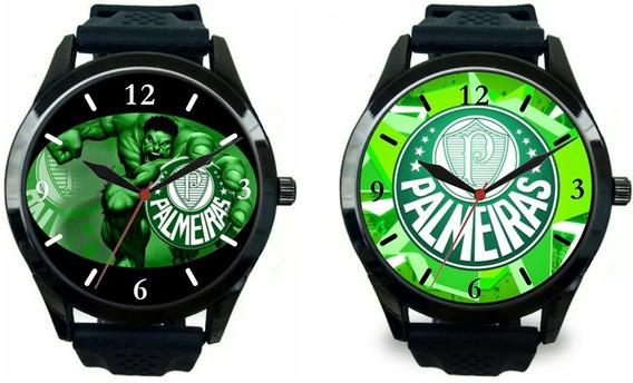 Kit 2 Relógios Pulso Esportivo Masculino Palmeiras Oferta