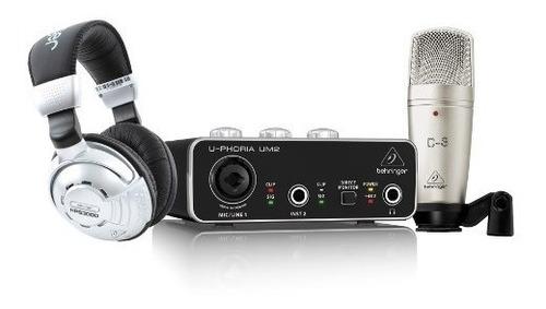 Kit Behringer Hps3000 + Interfaz Um2 + Microfono C-3
