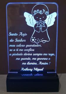 Luminária Oração Santo Anjo Abajur Led Rgb - Santo Anjo
