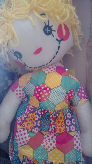 Boneca De Pano Biba - Papo De Pano 40cm