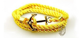 Pulsera Brazalete Ancla Oro Amarillo Hombre Caballero