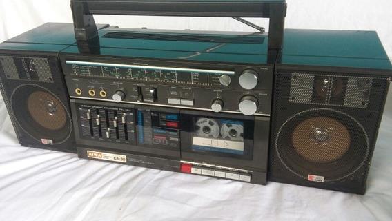 Radio Gravador Bombox Aiwa Ca 30 C/ Entrada Phono Veja Video