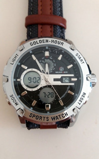 Reloj Goldenhour Hombre Movimiento Cuarzo Analogo Digital
