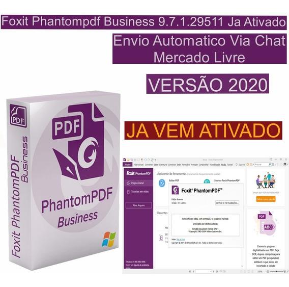Foxit Phantompdf Business 9.7 (br) / Envio Imediato
