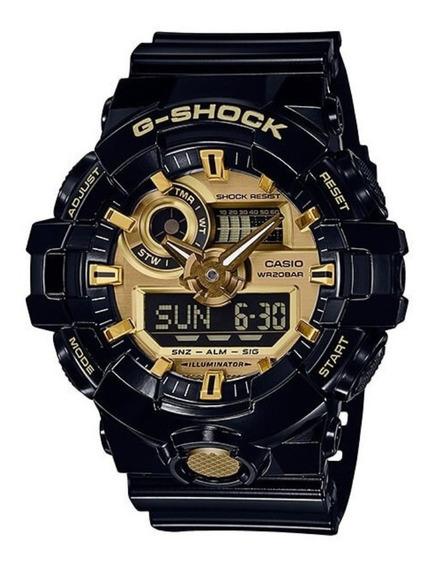 Relógio Casio G-shock Ga 710gb 1a Ga 710 Black Gold