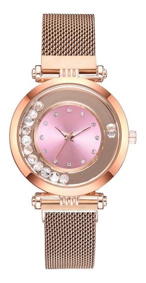 Relógio Feminino Lindo Pulseira Magnética Ultra Fino