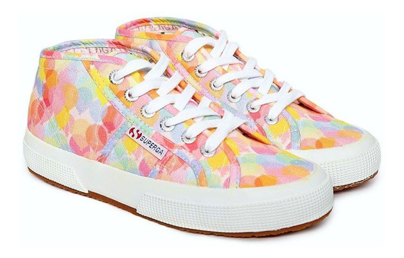 Tenis Superga Botin Multicolor Nuevos Originales #24