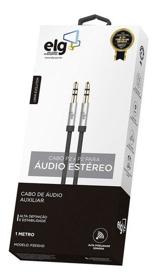 Cabo De Áudio Estéreo P2xp2 1m P3510hd ELG
