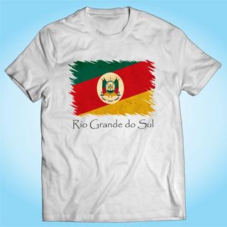 Camisa Rio Grande Do Sul Brasil - Bandeira - Personalizada
