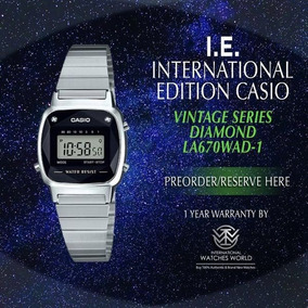 Relógio Casio Vintage Diamonds Mini La670wad 1df Original Nf