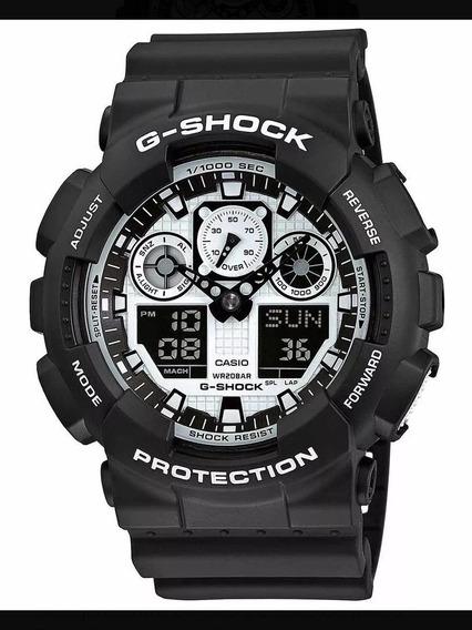 Relógio Casio G-shock Ga-100bw-1a Black And White Original