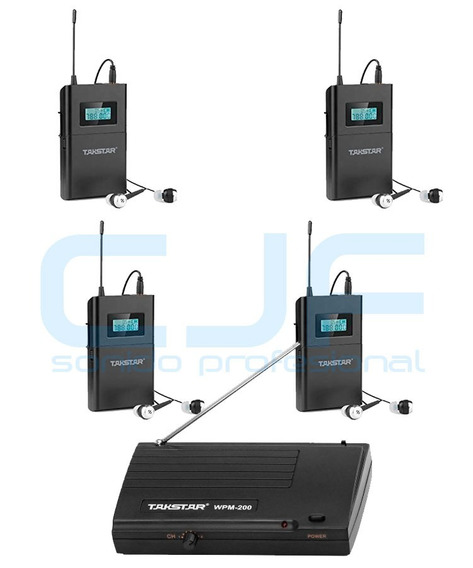 Monitor In Ear Takstar Wpm 200 X 4 Intraural Inalambrico Cjf