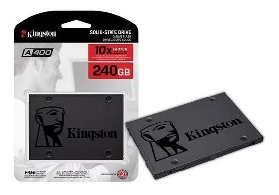 Hd Ssd 240gb Sata 3 Kingston A400 2,5 Novo