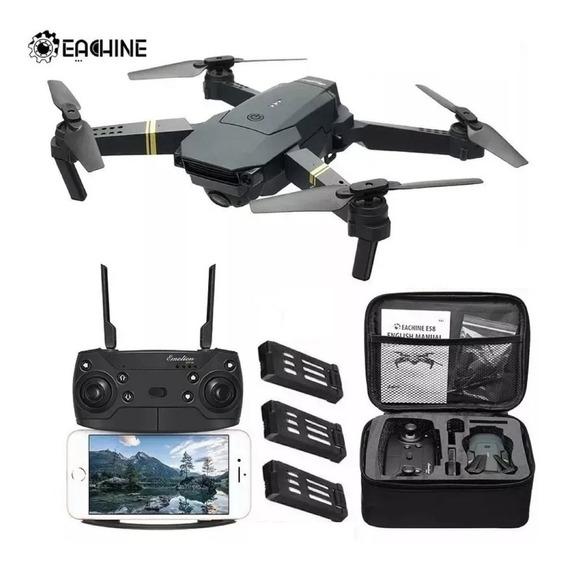 Drone Aeronave Quadricoptero Voo 3 Baterias Câmera Video E58