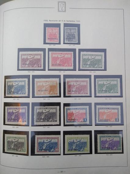 Estampillas,revolucion Del Año 1930-muestra Serie Completa
