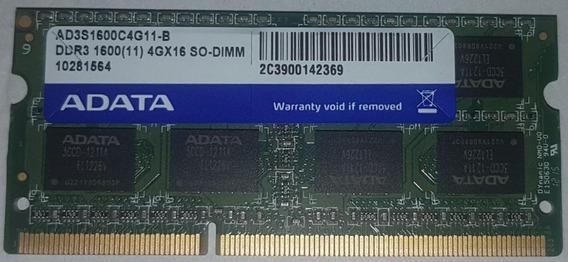 Memoria Ram Notebook Adata 4gb Ddr3 1600mhz So-dimm