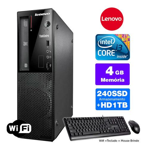 Imagem 1 de 5 de Lenovo Thinkcentre Int Completo I3 4g 4gb Ssd240+1tb Brinde
