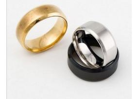 Anéis. Aliaça, Ouro, Prata E Preto