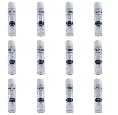 12 Fixador Hair Spray Fixing Extra Forte 400ml P/st Toppík