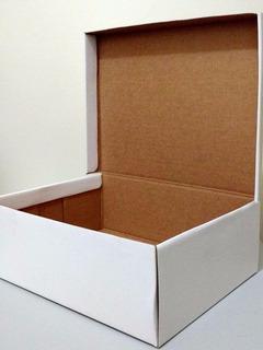 10 Caixas De Sapato Branca Embalagem Papelão 22 X 28 Cm