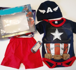 Set Conjunto Disfraz Bebe Unisex Animalitos Superheroes Body