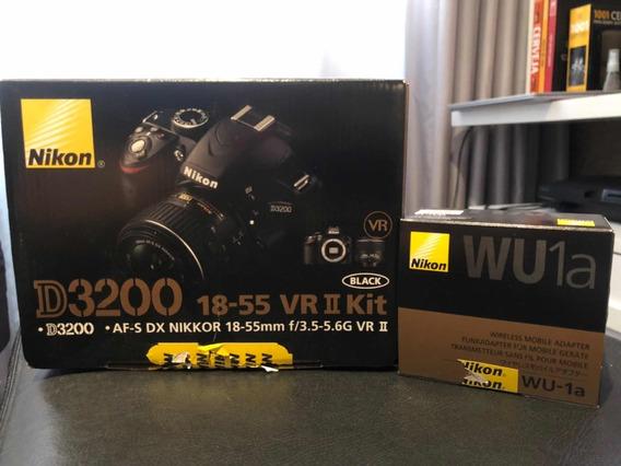 Câmera Nikon D3200 + Adaptador Wireless Wu1a