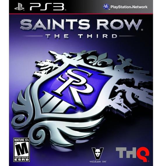 Saints Row The Third Ps3 Mídia Física Novo Lacrado