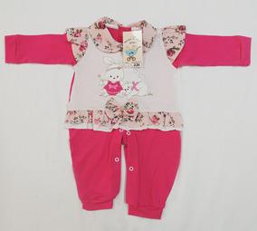 Macacão De Malha 230 Pink Nana Nenêm - P