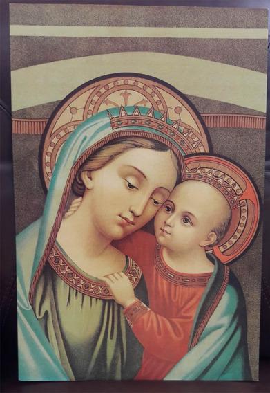 Ícone Nossa Senhora Do Bom Conselho 30 X 45 Cm