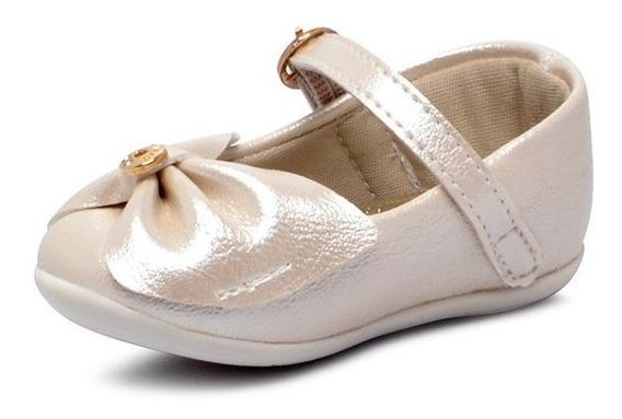 Sapatilha Infantil Klin 125117 Couro Off White