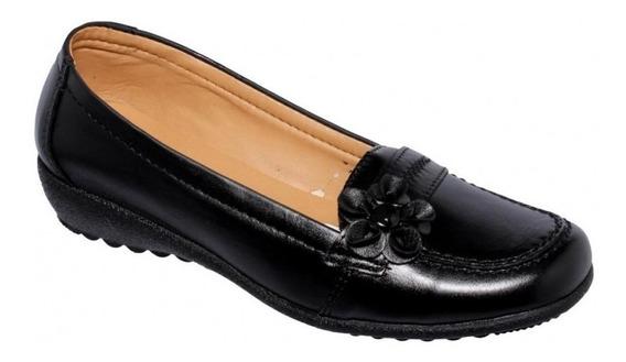 Zapato Casuales Para Mujer Comodos Piel Negro-mod.0096pi5227