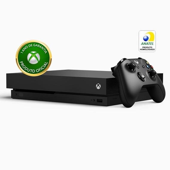 Video Game Microsoft Xbox One X 1tb Standard Preto