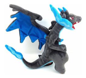 Pokemon Charizard Shiny Azul Boneco De Pelúcia Modelo Grande