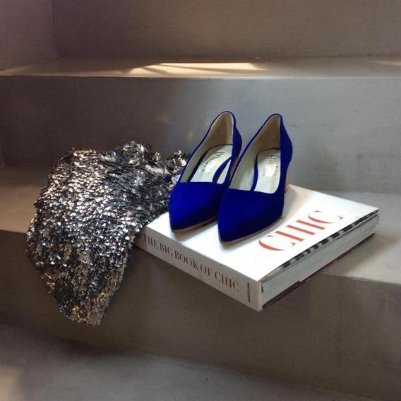Zapato Mujer Stiletto Gamuza Taco Ancho Lynch #403