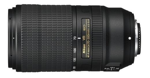 Lente Nikon Af-p 70-300mm F/4.5-5.6e Ed If Vr - Formato Fx