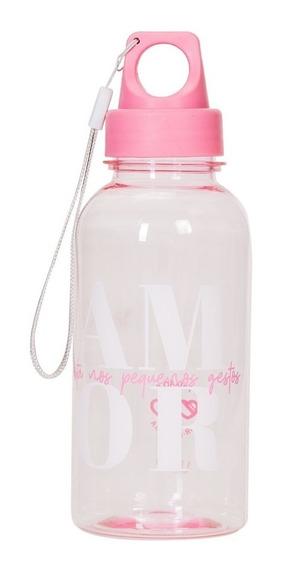 Mini Squeeze Com Alça Cor De Rosa 450 Ml Amor - Uatt