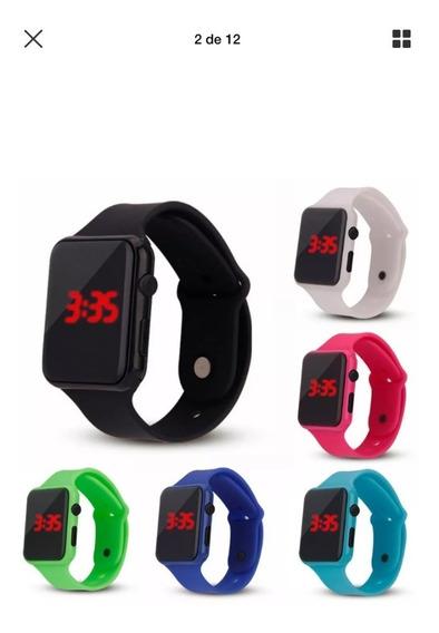 Relógio Digital Colorido Watch Color Laranja