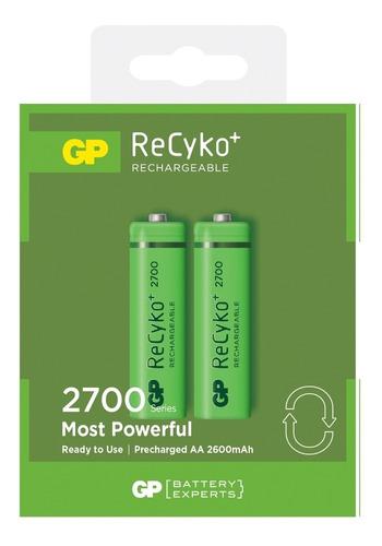 Pilas Baterías Aa Recargables Gp 2700mah Reales 1.2v Pack X2