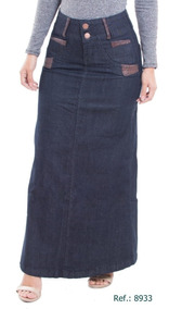Saia Jeans Longa (escolha O Modelo Que Desejar)